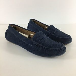 Aquatalia Sawyer Suede Penny Loafer Driving Shoe